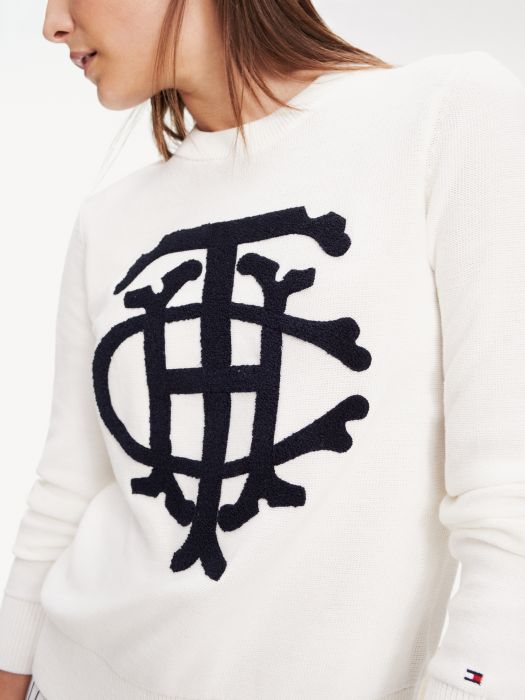Essential Graphic Crest Jumper by Tommy Hilfiger